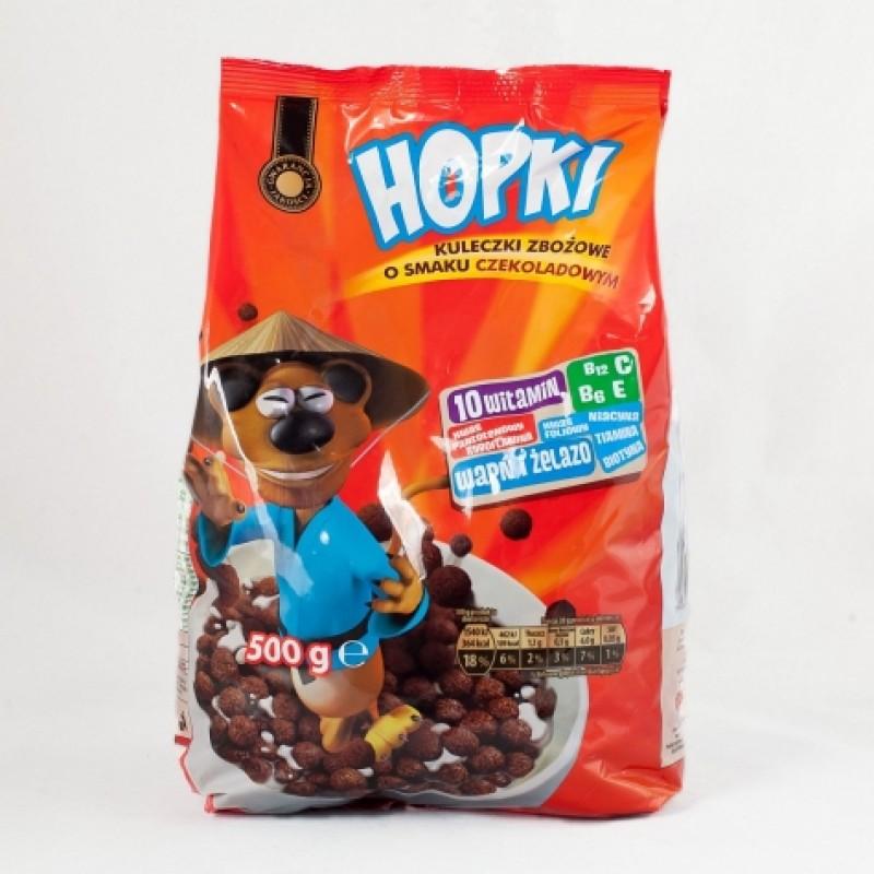 Злакові шоколадні кульки Hopki 500г