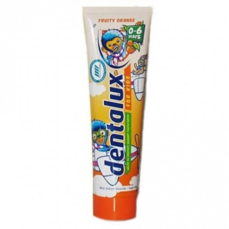 Зубна паста Dentalux дитяча апельсин вiд 0-6 100мл