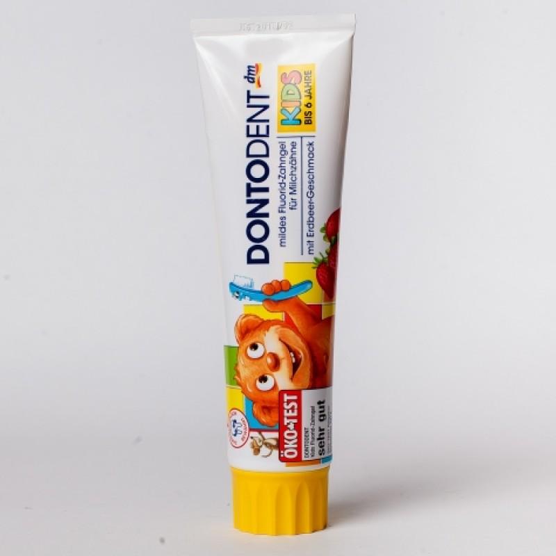 Зубна паста Dontodent kids для молочних зубiв вiд 1-6 рокiв 100мл